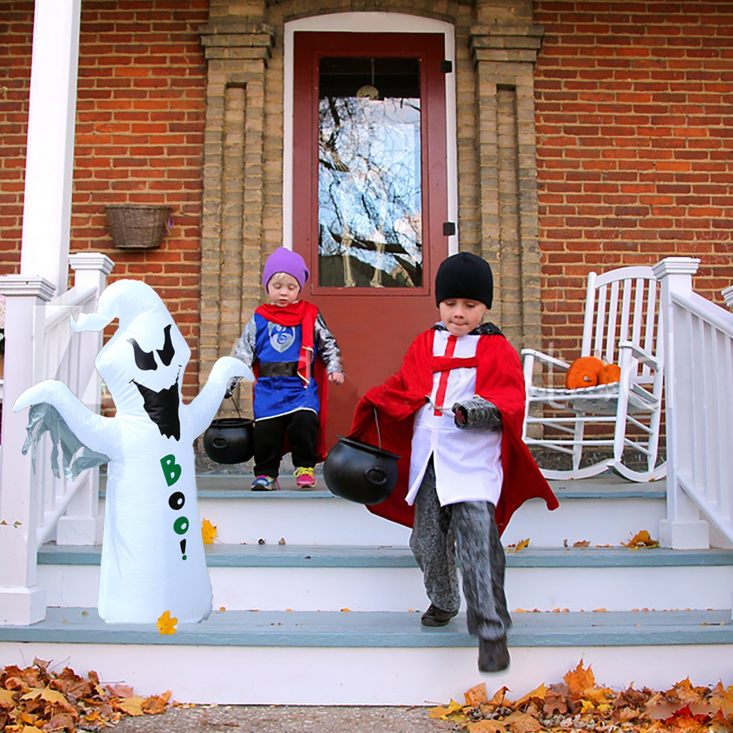 BrightTouch Inflatable Halloween Decorations - Ghost. Outdoor or Indoor (White) by BrightTouch (Image #4)