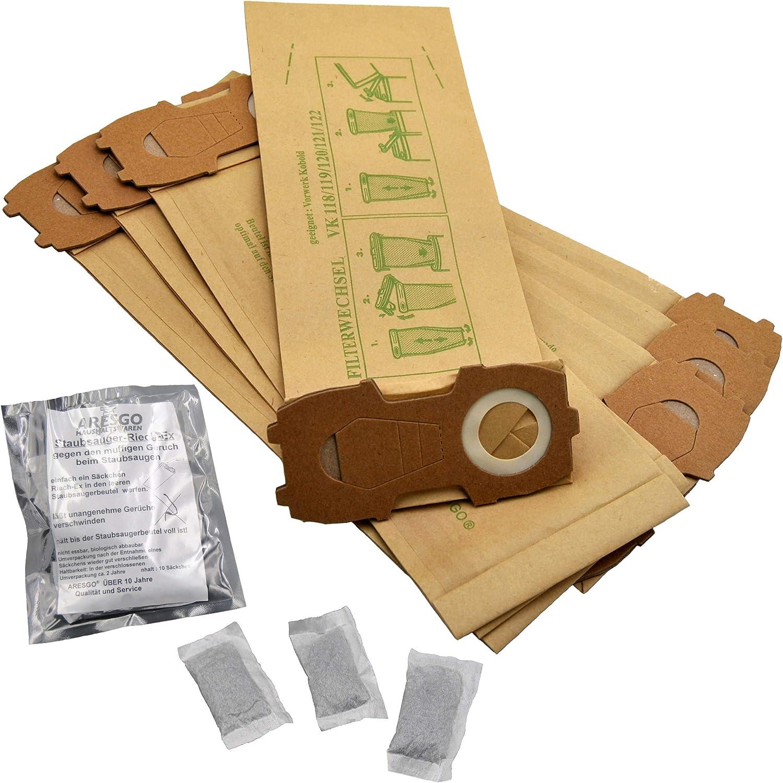 10 Filtertüten Beutel geeignet Vorwerk Kobold 122