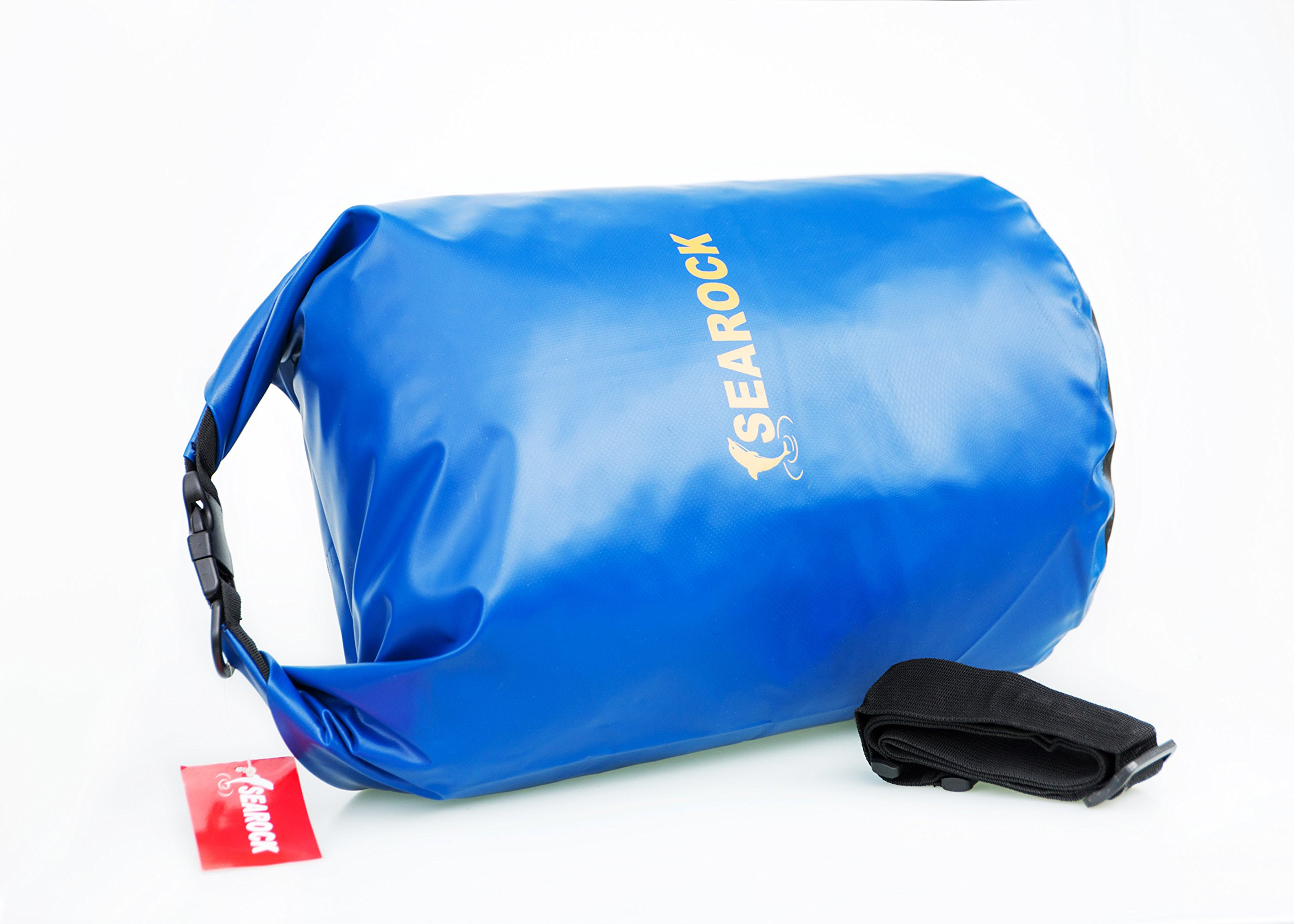 Stamo Waterproof Dry Bag 10 L/20L PVC Floating Bag Long Adjustable Shoulder Strap For kayaking, Boating , Hiking, Camping (blue, 20L)