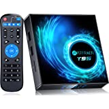 2021 Newest Android TV Box 10.0, Android Box 4GB RAM 32GB ROM Allwinner H616 Quad-Core 64bit with 2.4G/5GHz WiFi BT 5.0, TV B