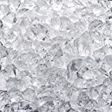 """Celestial Fire Glass - Crushed, Clear (1/2"""" to 3/4"""") 