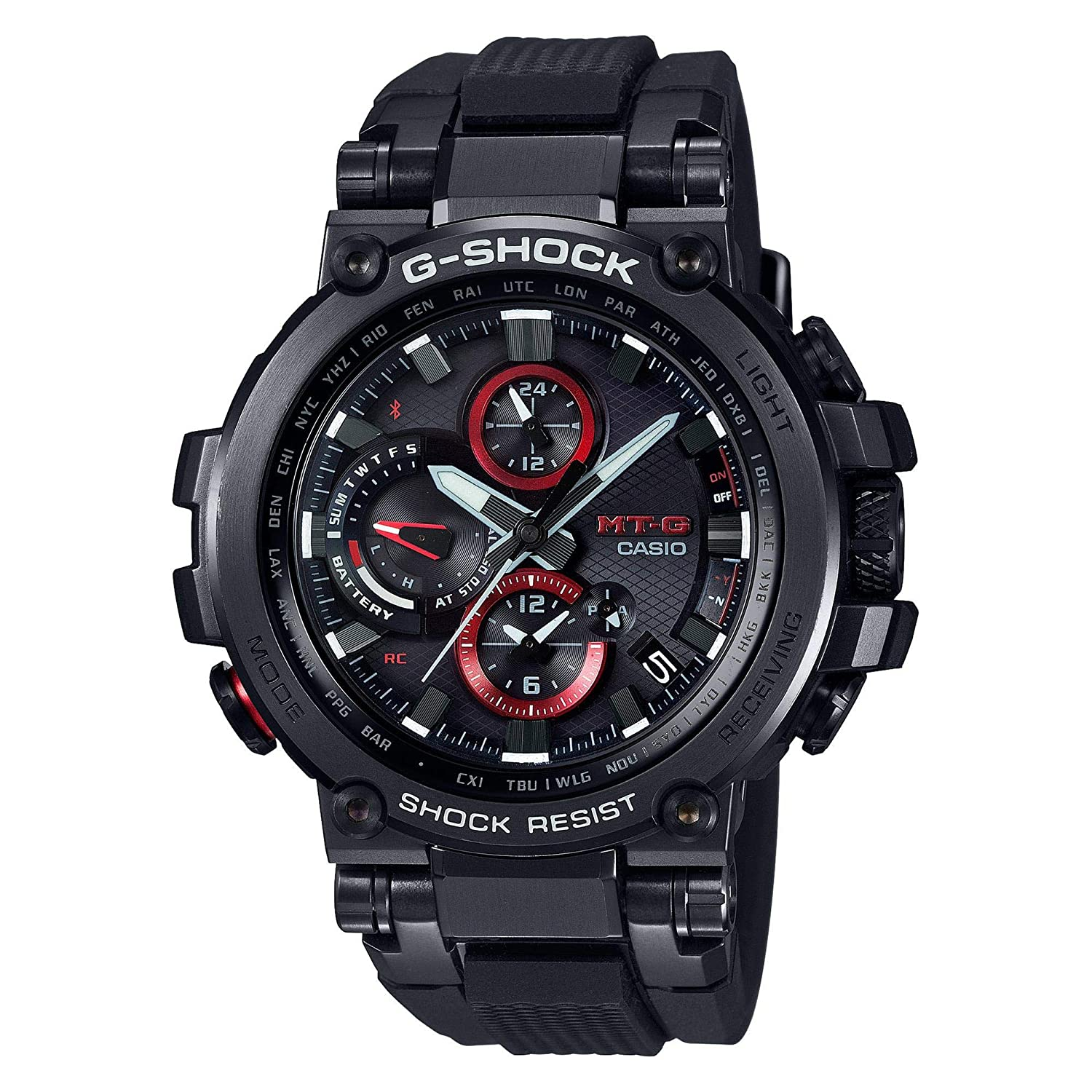 7367010f64a Amazon.com  Casio G-Shock MT-G Connected Black Watch MTG1000B-1A  Watches