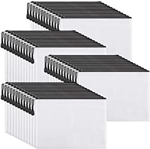 EOOUT 40pcs Mesh Zipper Pouch Document Bag, Plastic Zip File Folders, Letter Size/A4 Size, Black, for School Office Supplies, Travel Storage