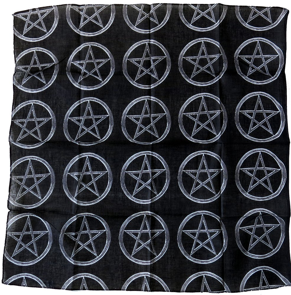 bandana noir pentagram devil diable 666 satan hard rock metal punk