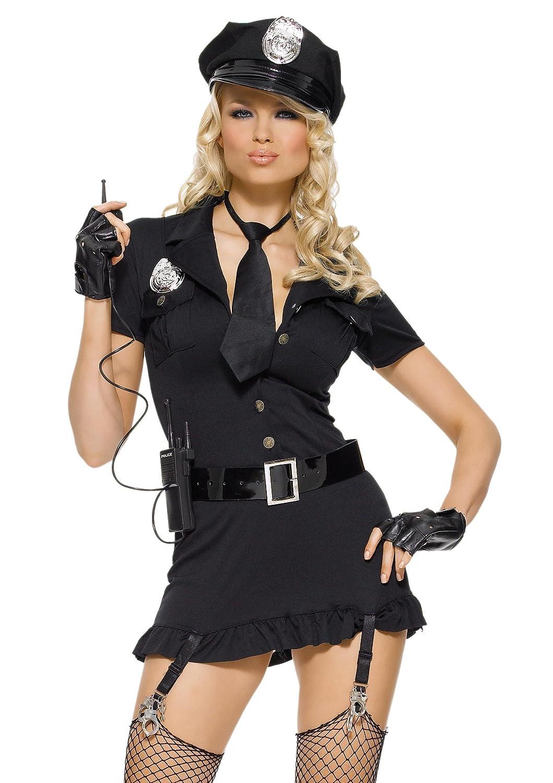 LEG AVENUE 83344 - Böser Böser Böser Cop Kostüm, Größe XL, schwarz 7442b5