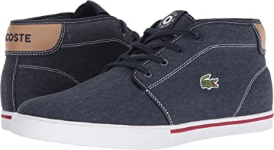 115fa3cf78c9 Lacoste Mens Ampthill 118 1 Navy Light Tan 10.5 M