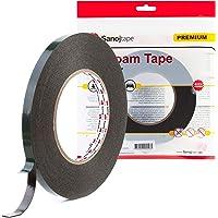 Sanojtape Ultra Sterke Zwarte Dubbelzijdige Tape 9mm x 10m | Ideale Permanente Montage Tape voor Automotive, Lijstwerk…