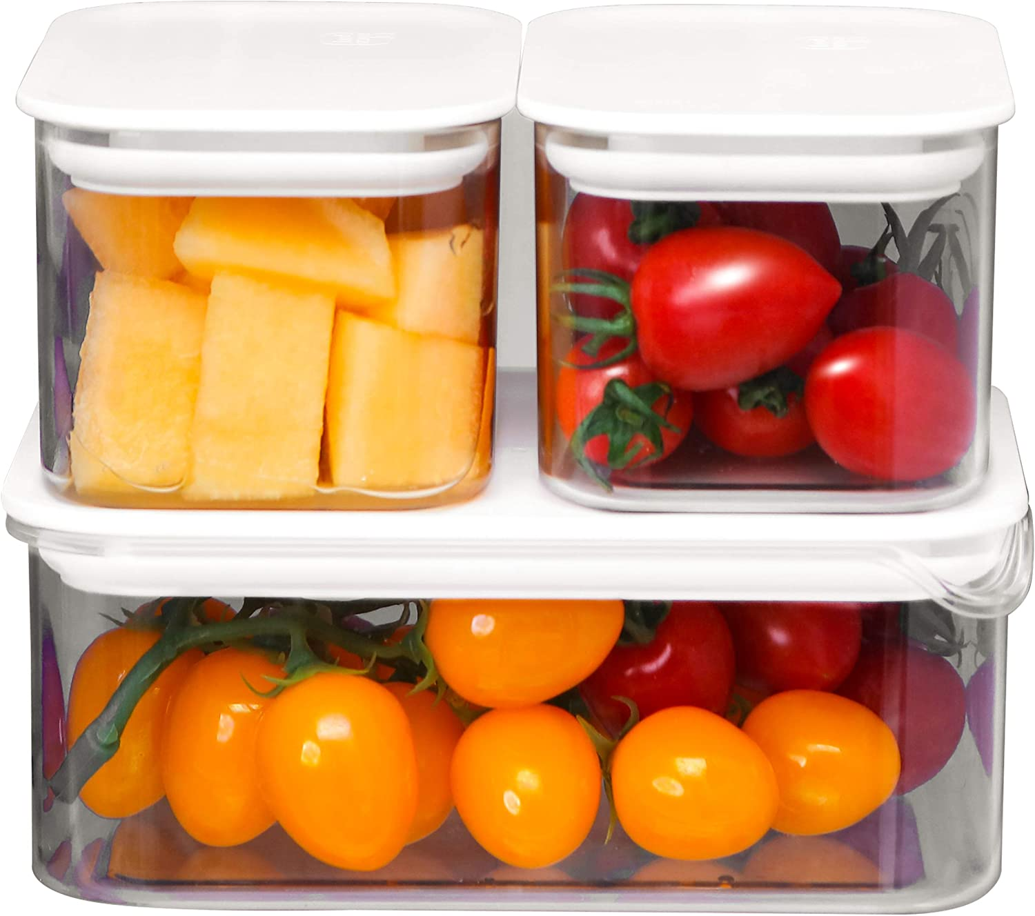 Amazon Promo Code for 3 Set Food Storage Containers Clear Fridge