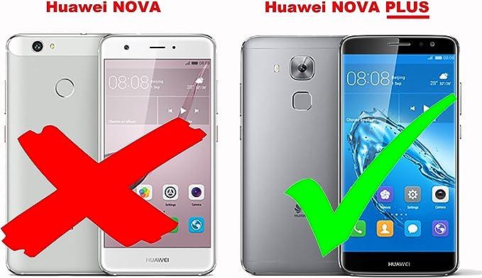 Cadorabo Funda Libro para Huawei Nova Plus en Negro Cometa: Amazon ...