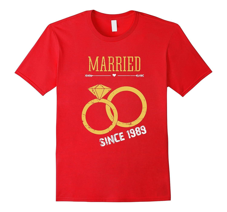 28th Wedding Anniversary Gift T-Shirt Married since 1989-Vaci
