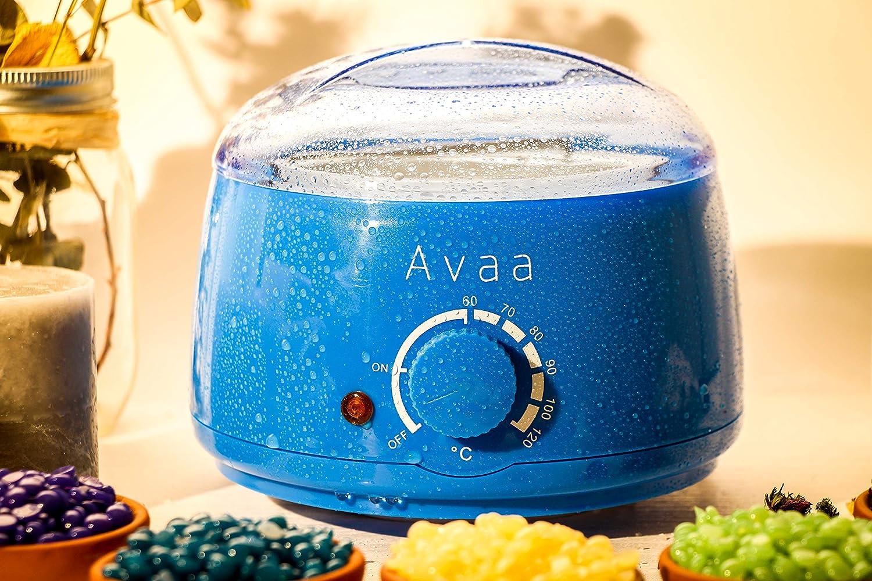 AVAA Calentador de Cera Depilatoria Caliente Depilación Profesional Depiladora Depilar Hair Remover Hard Wax Beans Perlas de Cera Sin Dolor Quita Pelos para ...