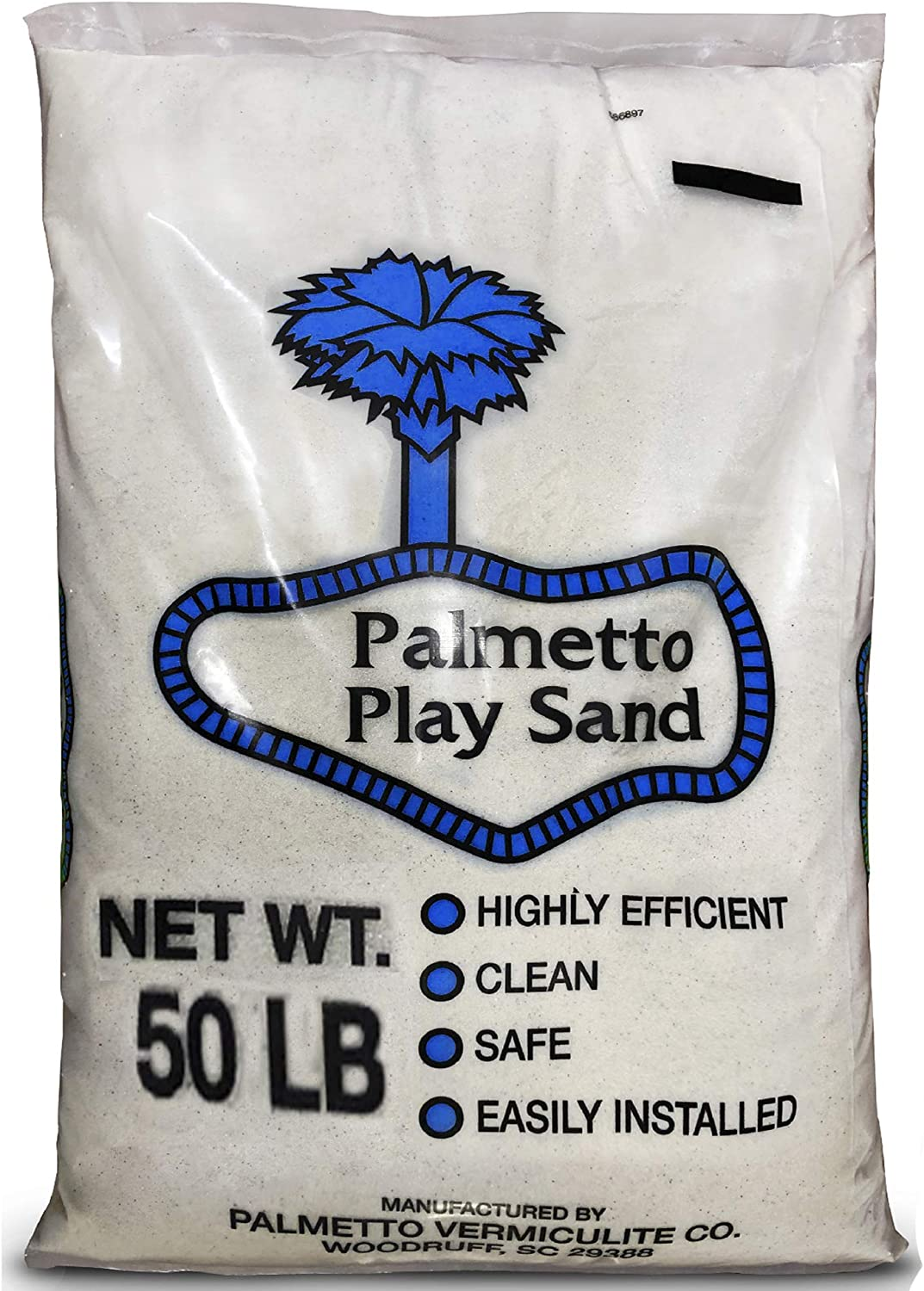 PlaySand 50 Pounds Natural – Filtered, Screened, Washed and Dried Soft Sand – Great for Sand Table, Sand Box, Play Areas, Arts and Crafts, Home Decorating – Beautiful Crème Color
