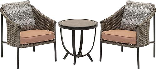 M d Furniture SANTAFE3PC-PRL Santa Fe 3-Piece Deep Seating Set