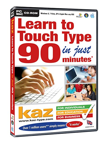 KAZ Version 20.5 - Learn To Touch Type in 90 Minutes (PC/Mac ...