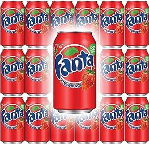 Fanta Strawberry Soda, 12 Fl Oz Cans (Pack of 18, Total of 216 Fl Oz)