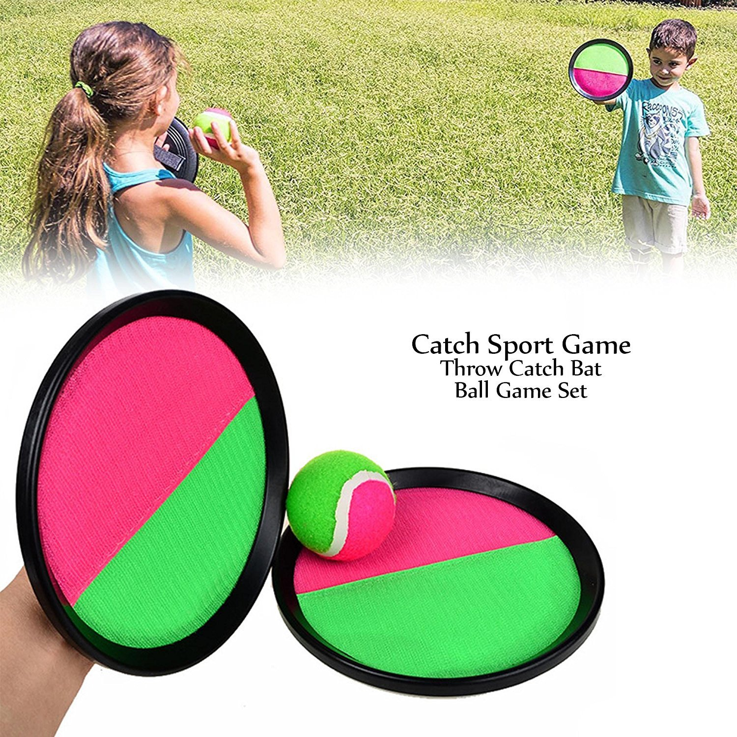 Finlon Throw and Catch Ball Toss and Catch and Toss Game Set for Outdoor Beach Garden Pool Toy