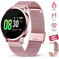 Smart Watch All-Day Heart Rate Monitor Fitness Tracker for Women with Sleep Monitor…