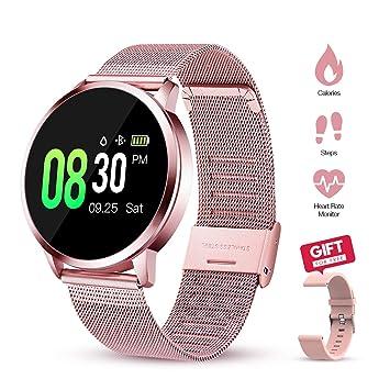 GOKOO Smartwatch Mujer Rosa Reloj Inteligente de Fitness a Prueba ...
