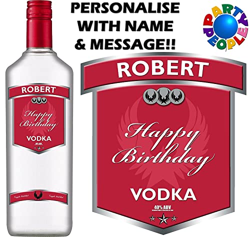 Personalised vodka bottle label any name message