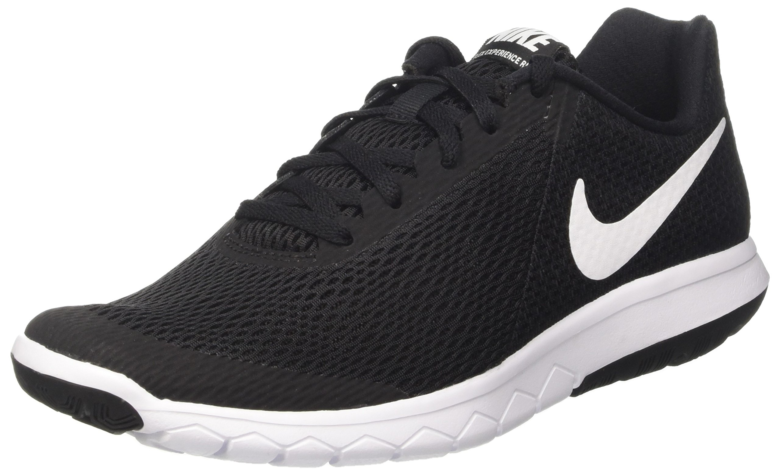 Nike Womens Flex Experience RN 6 Running Shoe Black/White 7