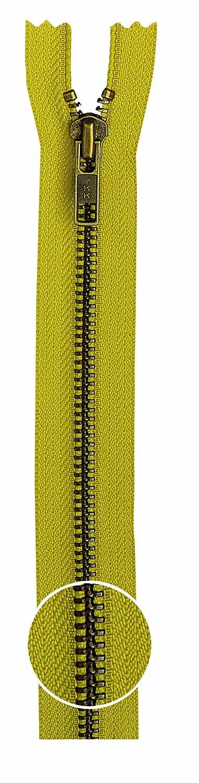 YKK Metall Reißverschluss nicht teilbar orange 849