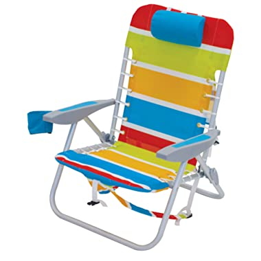 RIO Beach 4-Position Lace-Up Backpack Folding Beach Chair
