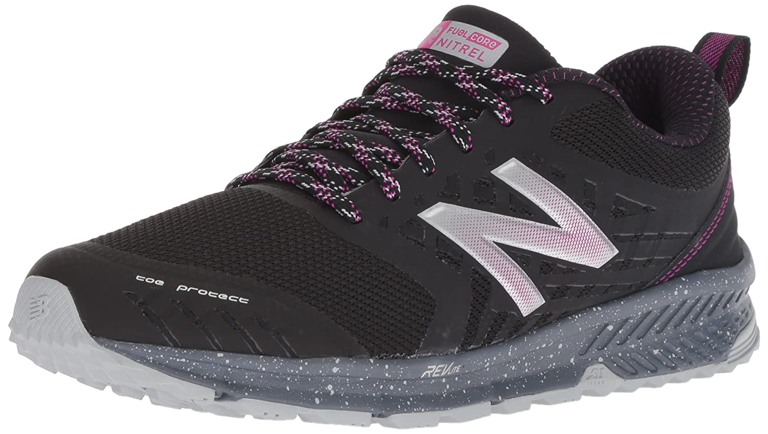 New Balance Women's Nitrel v1 FuelCore Trail Running Shoe B071WKFK8P 5 B(M) US|Black/Poison Berry