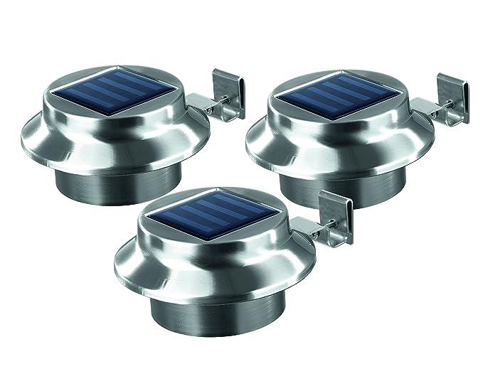 Easymaxx illuminazione solare per grondaie e recinzioni da