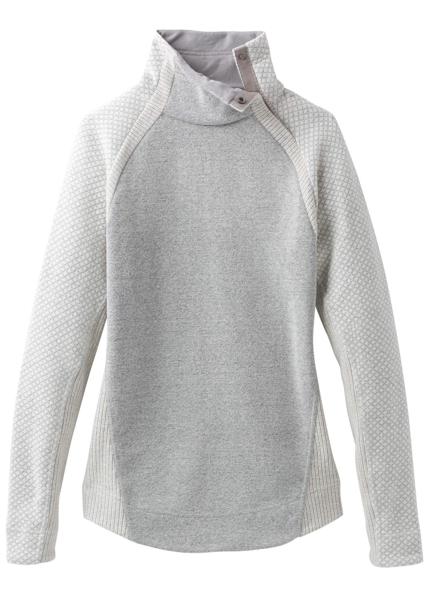 prAna Women's Brandie Sweater, Bone Heather, Large by prAna
