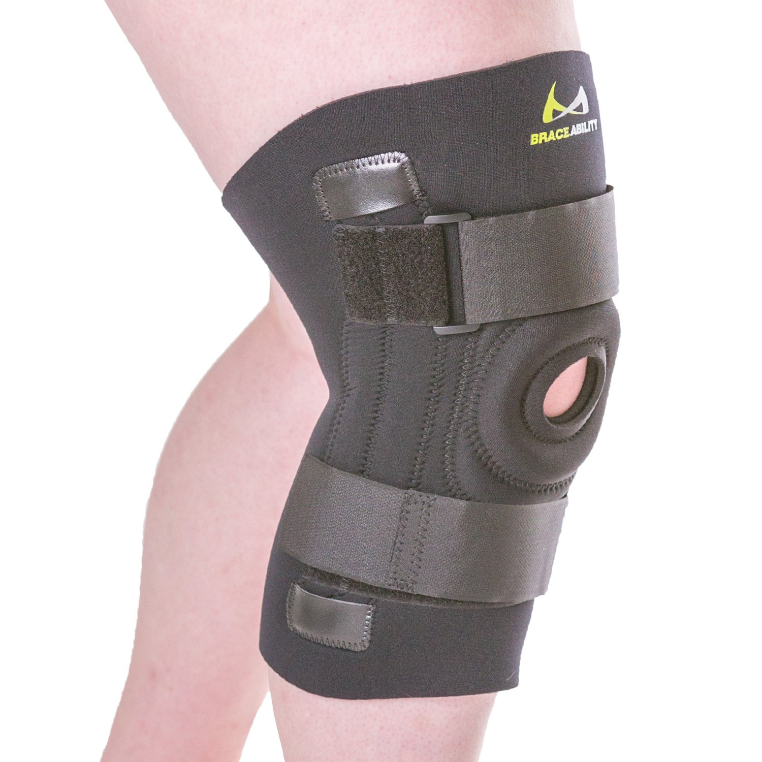 BraceAbility Knee Brace for Large Legs and Bigger People with Wide Thighs | Kneecap Protection Pad Treats Patellar Tendonitis, Chondromalacia, Patellofemoral Pain, Instability & Dislocation (4XL) by BraceAbility