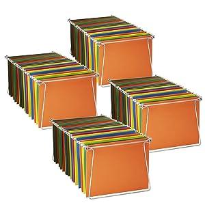 """Officemate Hanging File Frame, 24"""" - 27"""", Letter Size, Steel, 4 Sets (91965)"""
