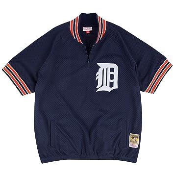 timeless design d1bcc aec54 Mitchell & Ness Kirk Gibson Detroit Tigers #23 Men's 1/4 Zip Mesh Batting  Practice Jersey