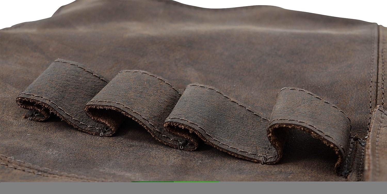 Gusti Leder studio Sander Delantal de Cuero con Interior Impermeable 73 x 85,5 cm Herramientas Ropa de Trabajo Cocina Taller Utensilios Protecci/ón Piel Aut/éntica Marr/ón 2G27-L-20-9wp