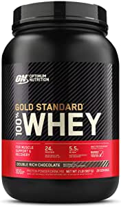 Optimum Nutrition Gold Standard Whey, Double Rich Chocolate, 909 grams