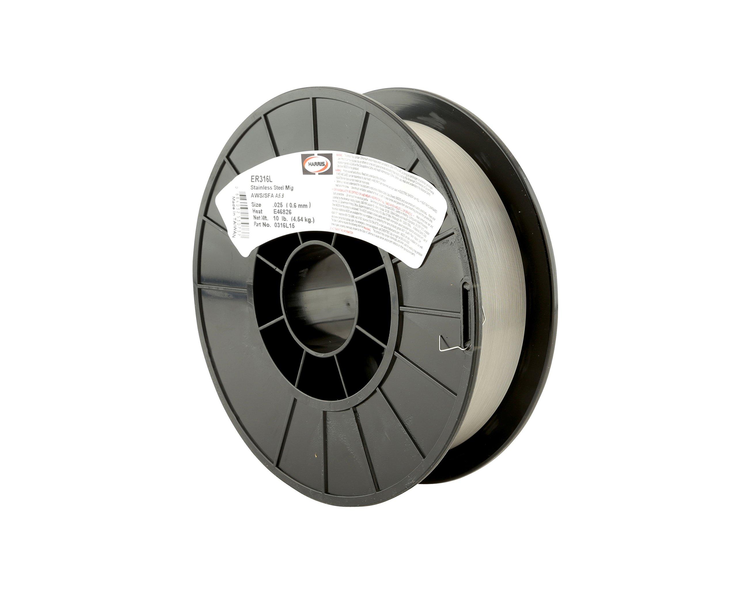 Harris 0316LF5 316L Welding Wire, Stainless Steel Spool, 0.035'' x 10 lb.