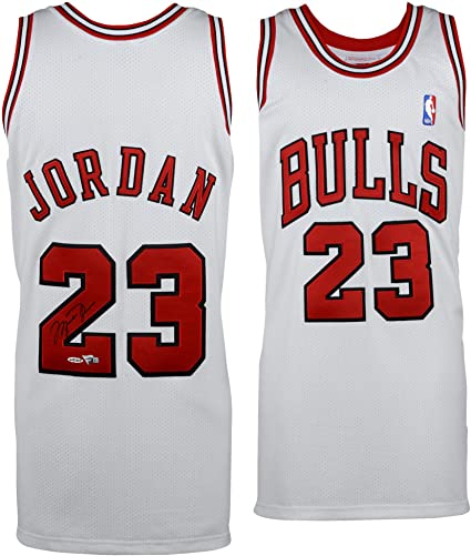 dbf328891531 ... where to buy michael jordan chicago bulls autographed white 1997 98  mitchell ness jersey upper deck
