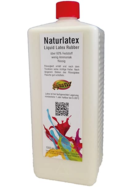 Látex líquido 1 litro Liquid Leche de látex, natural, 1000 ml goma natural líquido