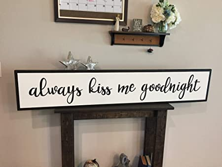 Amazon Com Slobyy No Framed Insert Style Wood Always Kiss Me