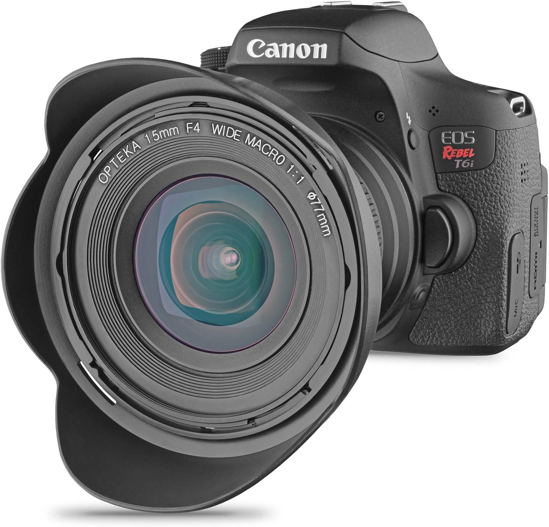 6 Items Opteka 15mm f//4 LD UNC AL 1:1 Macro Manual Focus Full Frame Wide Angle Lens for Nikon Digital SLR Cameras Bundle with Opteka 77mm 10x HD II Professional Macro Lens and Accessories