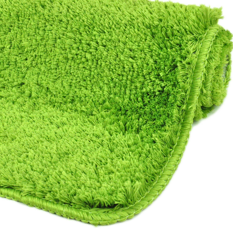 'Baño Florenz | Alfombrilla de baño antideslizante | Lavado Bar & secado rápido | Moderno microfibra ducha Alfombrilla | baño alfombra para cuarto de baño | Zambaiti & Suave | wohndi rect, azul claro, 50 x 80 cm Pedrini GmbH
