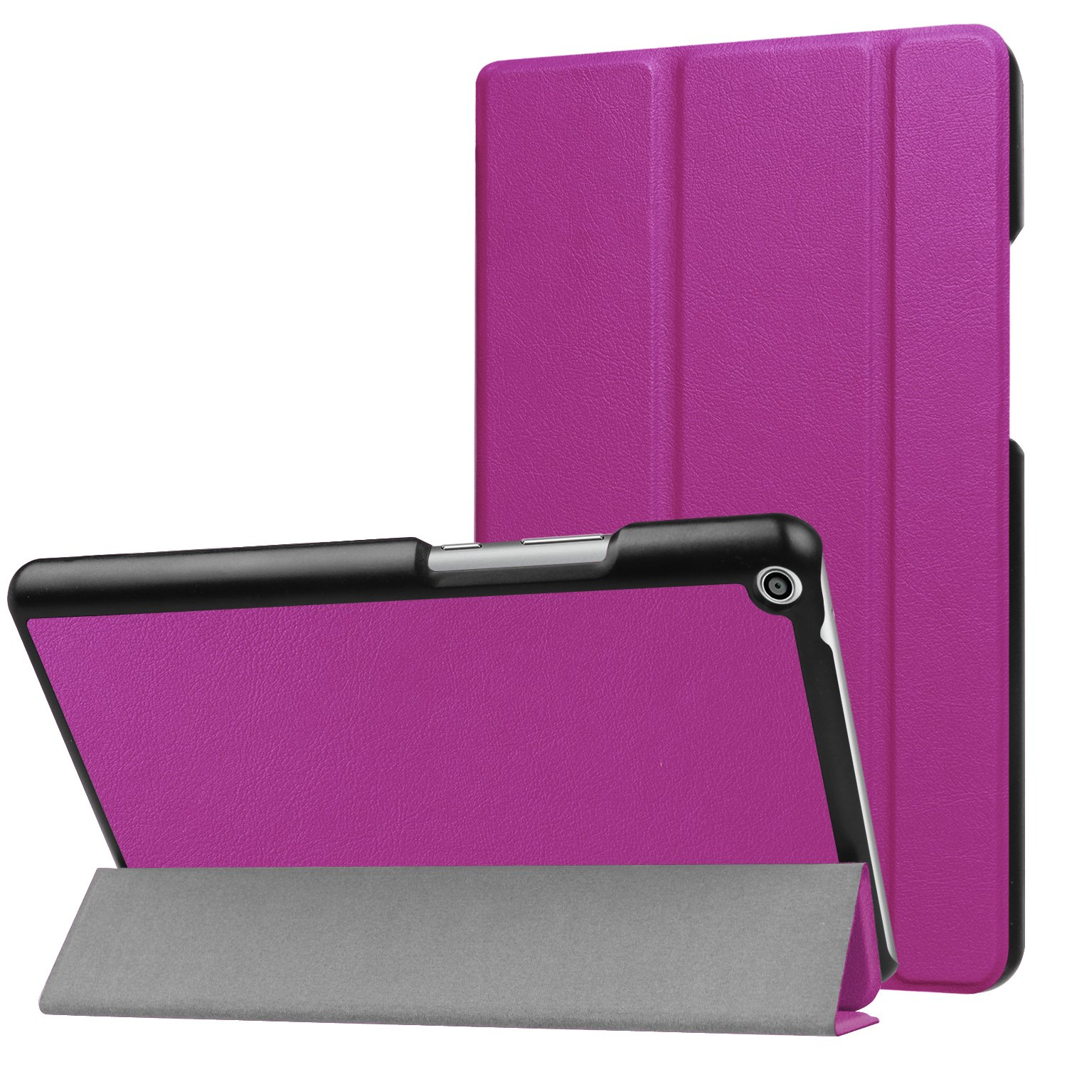 Huawei MediaPad T3 8.0 Case - Ratesell Ultra Slim Fit Auto Wake / Sleep function Protective Durable Premium Leather Stand Folio Case for Huawei MediaPad T3 8.0 Purple by Ratesell