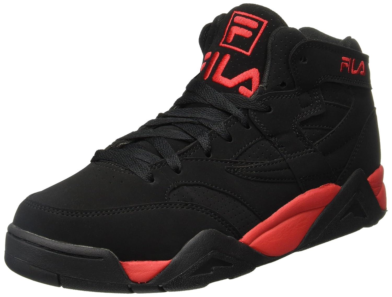 08d97ce4e1 Fila Men's M Squad Black/Red Hightop Basketball Shoes
