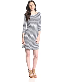24269729be69bd Amazon.com  Three Dots Women s Button Up Tie Front Dress  Clothing