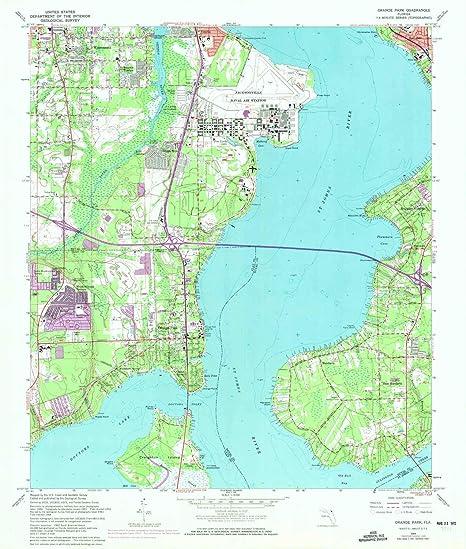 Amazon.com : YellowMaps Orange Park FL topo map, 1:24000 ...