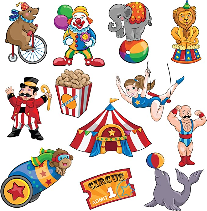 Outus 10 Pieces Circus Carnival Animals Honeycomb Centerpieces Carnival/Party Table Topper Circus Carnival Party/Favors for Birthday Baby Shower Circus Theme Party Decorations