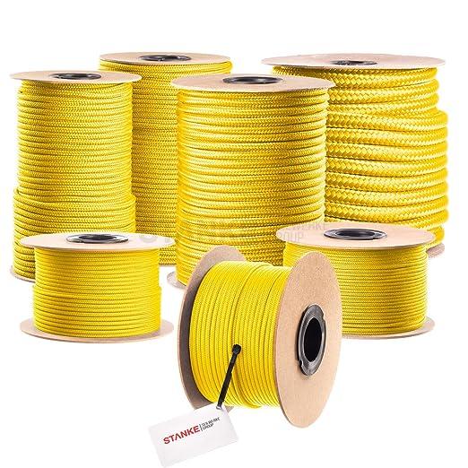 Seilwerk STANKE 20 m 5 mm cuerda de polipropileno trenzada pp amarilla amarra cuerda trenzada jarcias cuerdas de auxiliar