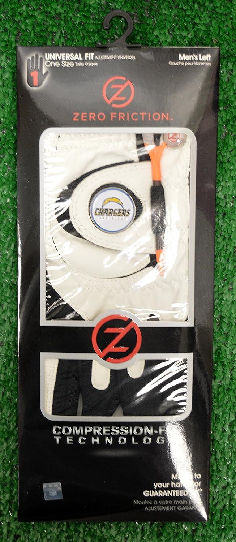 Zero FrictionメンズLeft Handユニバーサルゴルフグローブ – La Chargers – ホワイト   B077VT1RMN
