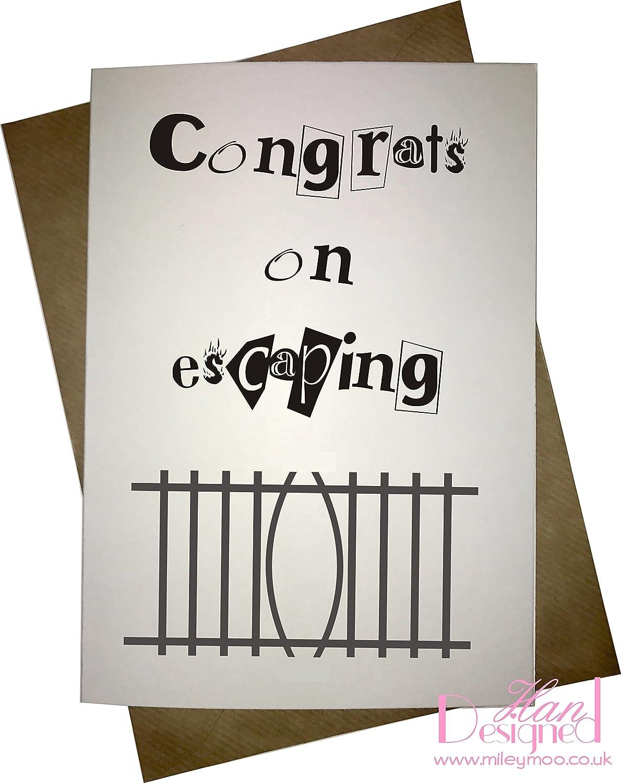 Congrats on Escaping. - novedad nuevo trabajo/tarjeta de ...