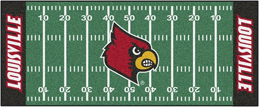 FANMATS NCAA University of Louisville Cardinals Nylon Face Carpet Car Mat