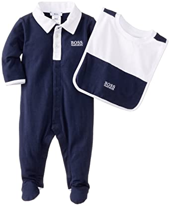 Hugo Boss Baby Baby-Boys Newborn Knut Footie and Bib Box Set 65dad474a